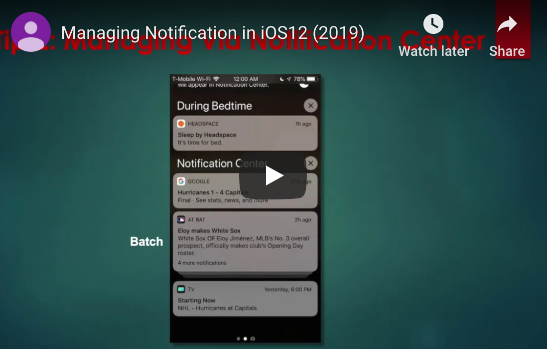 iphone and ipad notifications